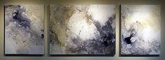 """Waxing Infinite by Trisha Adams Acrylic ~ 30"""" x 24""""; 40""""; 24"""""""