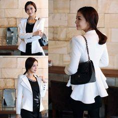 Women Casual/Business Outerwear Slim Dovetail Tuxedo Suit Blazer Coat Jacket Top #Unbranded #Blazer