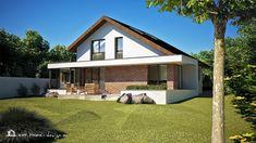 PROIECT CASĂ MICĂ CU MANSARDĂ | House Design Design Case, Home Fashion, House Plans, Shed, Outdoor Structures, Exterior, House Design, House Styles, Houses