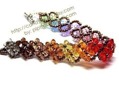 Zig Zag Rainbow Shade Bracelet by candybead on Etsy