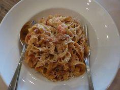Tagliatelle Bolognese from Osteria Coppa in San Mateo.