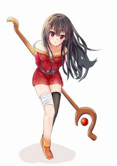 megumin anime: KonoSuba (Kono Subarashii Sekai ni Shukufuku wo) Para when cacheadas at the crespas, Anime Sexy, Konosuba Anime, Fan Art Anime, Chica Anime Manga, Sad Anime, Anime Demon, Art Manga, Manga Drawing, Kawaii Anime Girl