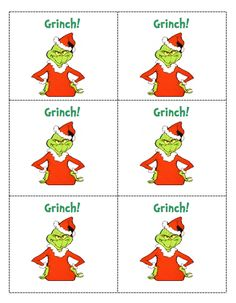 free printable Grinch game (for sight words, math facts, or any other skill)