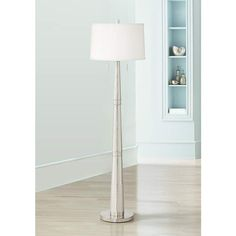 Column Floor Lamp Avery Black And Brushed Nickel Column Floor Lamp  Style # 9K257