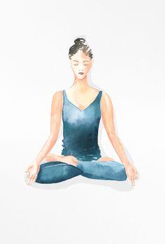 calm and mindful yoga illustrations 🧘♀️✨