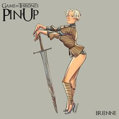 Brienne - GoT Pin-Up by Andrew Tarusov