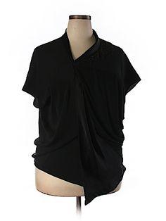 Rohit Gandhi + Rahul Khanna Women Short Sleeve Blouse Size L