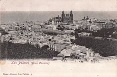 c1905 POSTCARD LAS PALMAS GRAN CANARIA/CANARY ISLANDS SPAIN ~ BIRDS EYE VIEW