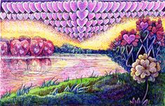 Learn to Draw this Heart-filled Landscape from a Photo. Friday Fun & Easy Challenge- #Fun&EasyLandscape Step-by-Step #DrawingTutorial #Step-by-Step #Zensations @ZebraPen_USA
