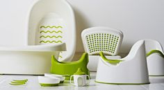 #Display of baby bath, potty, stool, plate, bowl and sippy cup