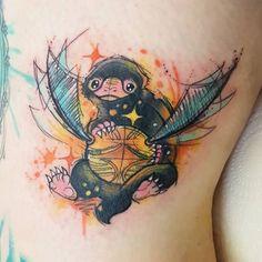 #Niffler & #GoldenSnitch #tattoo by @josiesexton.  #HogwartsTattoo @HogwartsTattoo