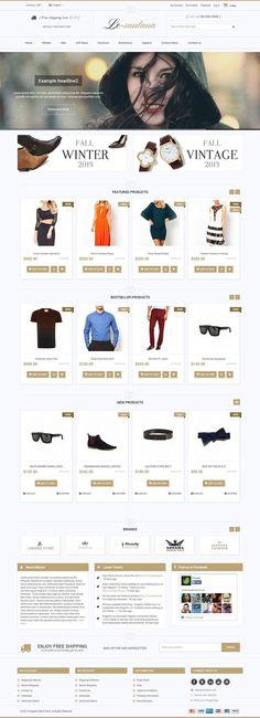 Le-Santana - Responsive #Magento Theme for Fashion Stores http://www.themesandmods.com/magento-themes/le-santana/