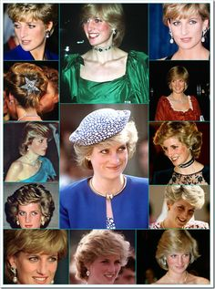 The pictures below illustrate some of her other favorite styles, like diamonds, and other gemstones which complemented her ensemble for many public events.