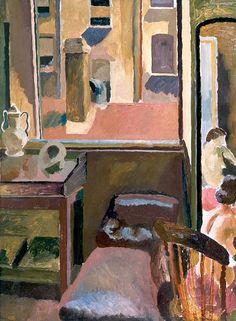 Duncan Grant (UK, - The Back Window of Gordon Square - 1918 - oil on canvas - Aberdeen Art Gallery & Museums, UK Dora Carrington, Duncan Grant, Vanessa Bell, Aberdeen Art Gallery, Art Grants, Bloomsbury Group, Virginia Woolf, Open Window, Art Uk