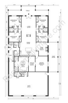 The Absolute Best 5 Bedroom Barndominium Floor Plans Barn Homes Floor Plans, Metal House Plans, Pole Barn House Plans, Pole Barn Homes, New House Plans, Dream House Plans, House Floor Plans, Ranch Floor Plans, Barn Plans