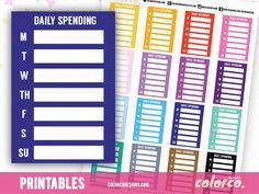 DAILY SPENDING -  Stackable Sidebar Checklists |  Erin Condren