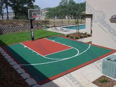 Kids dream sport court w rebound net home sweet home for Cost to build a racquetball court