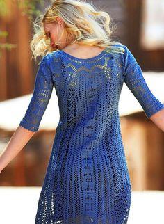 Quem não adora os vestidos em crochê?  São praticamente uma unanimidade...  Crocheteiras amigas deliciem-se e inspirem-se com os modelitos....