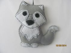 Wolf Ornament Felt Christmas Forest Animal Woodland by AMailys