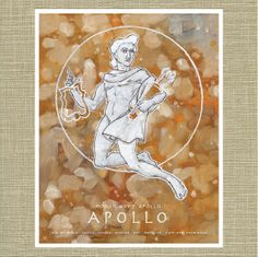 Greek and Roman Gods Apollo God of the Sun by wellsillustration, $16.00