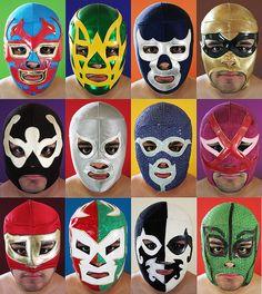 Masks by OsoBear. Luchadorè masks. #TacoLu #Lunited