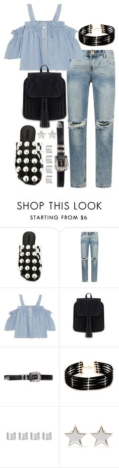 """""""Untitled #485"""" by flawedparadise ❤ liked on Polyvore featuring Alexander Wang, One Teaspoon, Steve J & Yoni P, Forever 21, Maison Margiela and Givenchy"""