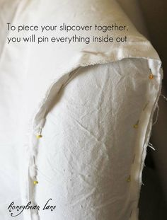 DIY couch slip covers for our current couches---future family room