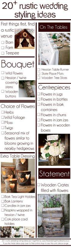 20 rustic country wedding ideas / http://www.deerpearlflowers.com/best-rustic-country-wedding-ideas/