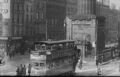 """Dublin History ~ At the terminus at the Pillar a number 8 tram to Dalkey on Sackville Street Ireland 1916, Dublin Ireland, Old Pictures, Old Photos, Vintage Photos, Gone Days, Photo Engraving, Dublin City, Emerald Isle"