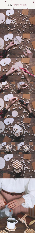 Drevené podložky pod poháre / DIY