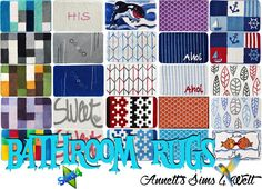 Sims 4 CC's - The Best: Bathroom Rugs by Annett85