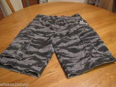Men's Hurley army walk casual shorts 34 camo camouflage surf skate black cargo