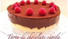 Tarta de chocolate rápida (sin horno)
