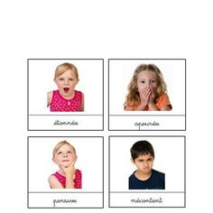 Les émotions cartes nomenclature Montessori, Emotions Activities, Activities For Kids, Emotional Child, Professor, Les Sentiments, Learning Environments, Positive Attitude, Kids Education