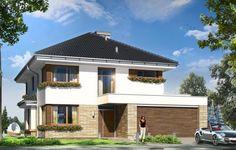 Projekt Helios to uroczy piętrowy dom dla cztero-pięcioosobowej rodziny. Jest to propozycja dla Inwestorów lubiących nowoczesną architekturę, którzy nie rezygnują z funkcjonalności i komfortu swojego domu. Piętrowa bryła budynku została przekryta czterospadowym dachem, a wbudowany częściowo garaż zwieńczono dachem płaskim.
