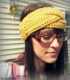 Crochet headband crossover