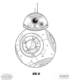 STAR WARS: THE FORCE AWAKENS - Coloring & Activity Sheets - BB-8 Coloring Page