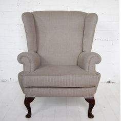 mid: Antique Wingback Chair....love this