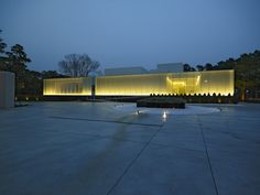 Image 13 of 27 from gallery of Lightbox / Hsuyuan Kuo Architect & Associates. Photograph by Kuo-Min Lee Facade Lighting, Linear Lighting, Landscape Lighting, Cool Lighting, Interesting Buildings, Beautiful Buildings, Facade Architecture, Landscape Architecture, Architectural Lighting Design