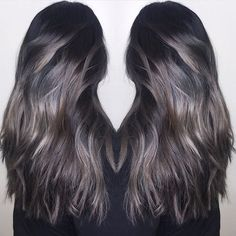 Image result for brunette to silver