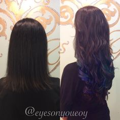 Fun Colored Keratin Extensions! Book Online 24/7 at www.eyesonyoutampa.com or call us!  (813)434-0234