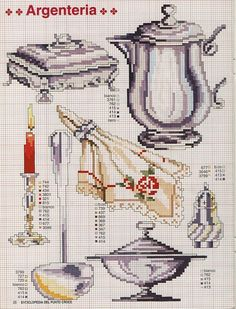 View album on Yandex. Types Of Embroidery, Diy Embroidery, Cross Stitch Embroidery, Embroidery Patterns, Counted Cross Stitch Patterns, Cross Stitch Charts, Quilt Stitching, Cross Stitching, Cross Stitch Kitchen