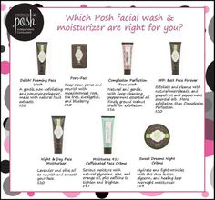 Pick the best perfectly posh face product for you! Http://www.perfectlyposh.com/kasiemiller