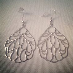 Peacock Silver Earrings by JewelsByCrys on Etsy, $10.00