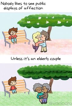 awwww... but why is the elderly couple tan?/ maybe they're black u racist! Jk, jk. Don't hate me