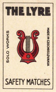 Vintage matchbox label