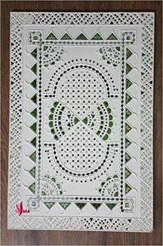 Wall Art Crafts, Clay Wall Art, Mirror Wall Art, Art N Craft, Mural Wall Art, Murals, Tribal Pattern Art, Rajasthani Art, Wall Painting Decor