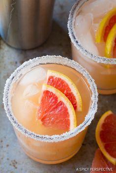 Tangy-Sweet Pink Grapefruit Margarita Recipe