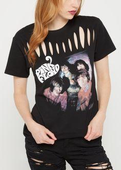 image of Pink Floyd Slashed Band Tee