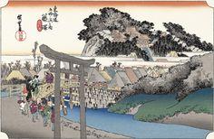 歌川広重「藤澤遊行寺」